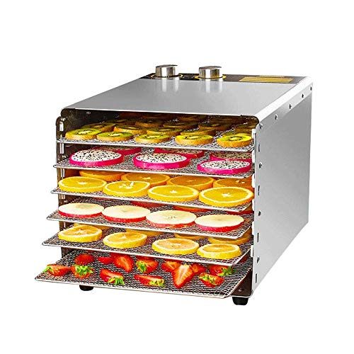 Fantastic Prices! LEFJDNGB Dehydrators For Food, 6-layer Rectangular Stainless Steel Food Dryer, Foo...