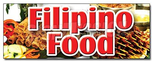 36' Filipino Food Decal Sticker Street Foods Manila Philippines Fish Balls