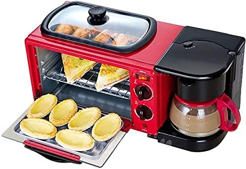 YYDMBH Horno eléctrico Horno 9L, Máquina de Desayuno multifunción Tres en uno Electric Hogar Sandwich Tostador Horno Café Tostadora Freidora de Aire