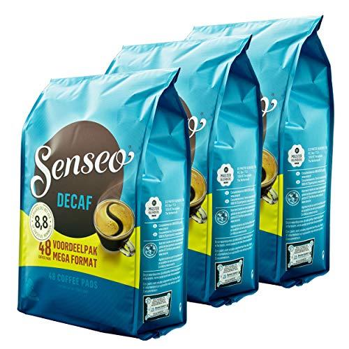 Dosettes senseo flavorName boîtes décaféiné, décaféiné, profond, intense & arôme de café pour dosettes 144 kaffepadmaschinen équilibré