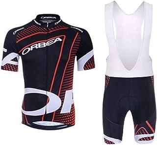 AICTIMO Traje Ciclismo Maillots Ciclismo Hombre Verano Spinning Pantalones Corto Ciclismo Acolchado de Gel Culotte y Maillot para MTB Bicicleta