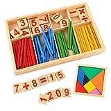 Mengger montessori matematicas juguetes Palillos de Madera Números Matemáticas...