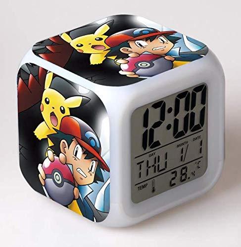 XINQIANG Reloj Pokemon Creative Anime Pokemon Despertador Pokémon Pikachu Colorido Estado de ánimo Despertador Regalo Creativo