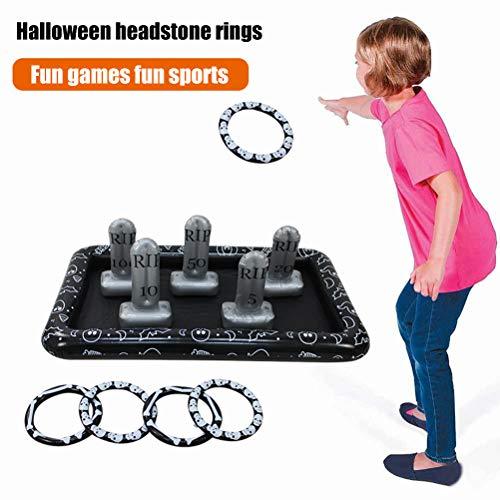 Juego de lanzamiento de anillo, juguetes inflables de lanzamiento de anillo Juego de lanzamiento de anillo de lanzamiento de anillo Diversión activa al aire libre y bajo techo para niños y adultos