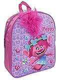 Trolls Plush Backpack - Girls School Bag Featuring Poppy - Official Trolls Pink Rucksack