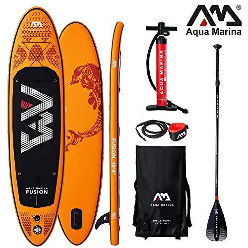 Aqua Marina Stand Up Paddle Board Fusion 330 x 81 cm SUP hinchable (bote hinchable, canadiense, canadiense, canoa, canoa, canoa, tiempo libre, pesca, barco de remo, canadiense, río, lago)