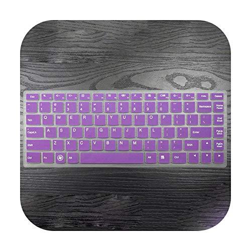 Teclado protector de teclado para Lenovo Yoga 900 Yoga4 Pro Yoga900-13Isk Yoga 4 Pro 3 Ideapad 700S 13/13.3 pulgadas, cubierta teclado de silicona piel protectora, color morado