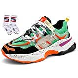 Men Fashion Sneakers Sport Running Shoes Walking Casual Athletic Shoes Skateboard Vogue (2,7.5)