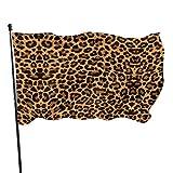 Hanging Flag Dekor,Garten Banner,Fahne,Flagge,Sexy Leopard Print Pattern Polyester Flag - Lebendige Farbe Und Uv-Lichtechtheit Für Den Außen-/Innenbereich 150X90 cm