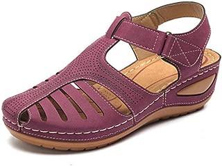 CAMEL CROWN Sandales Homme Cuir Bout Ferm/é Sandales de Randonn/ée Marche Outdoor Sports Sandale pour Homme