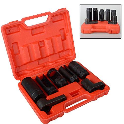 BMOT 7tlg Lambdasonden Steck Schlüssel Stecknüsse Set Werkzeug, Lambdasonde Nüsse Set 22/27/29mm