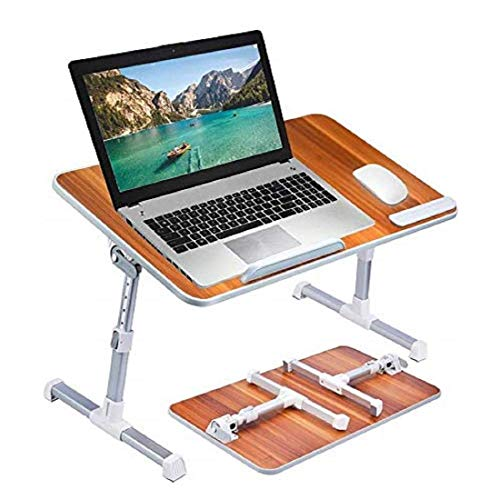 Callas Adjustable Portable Laptop Table, Bed Table, Notebook Stand, Laptop Standing Desk, Portable Standing Table with Foldable Legs, Foldable Lap Tablet Table for Sofa Couch Floor (CA6-Brown)