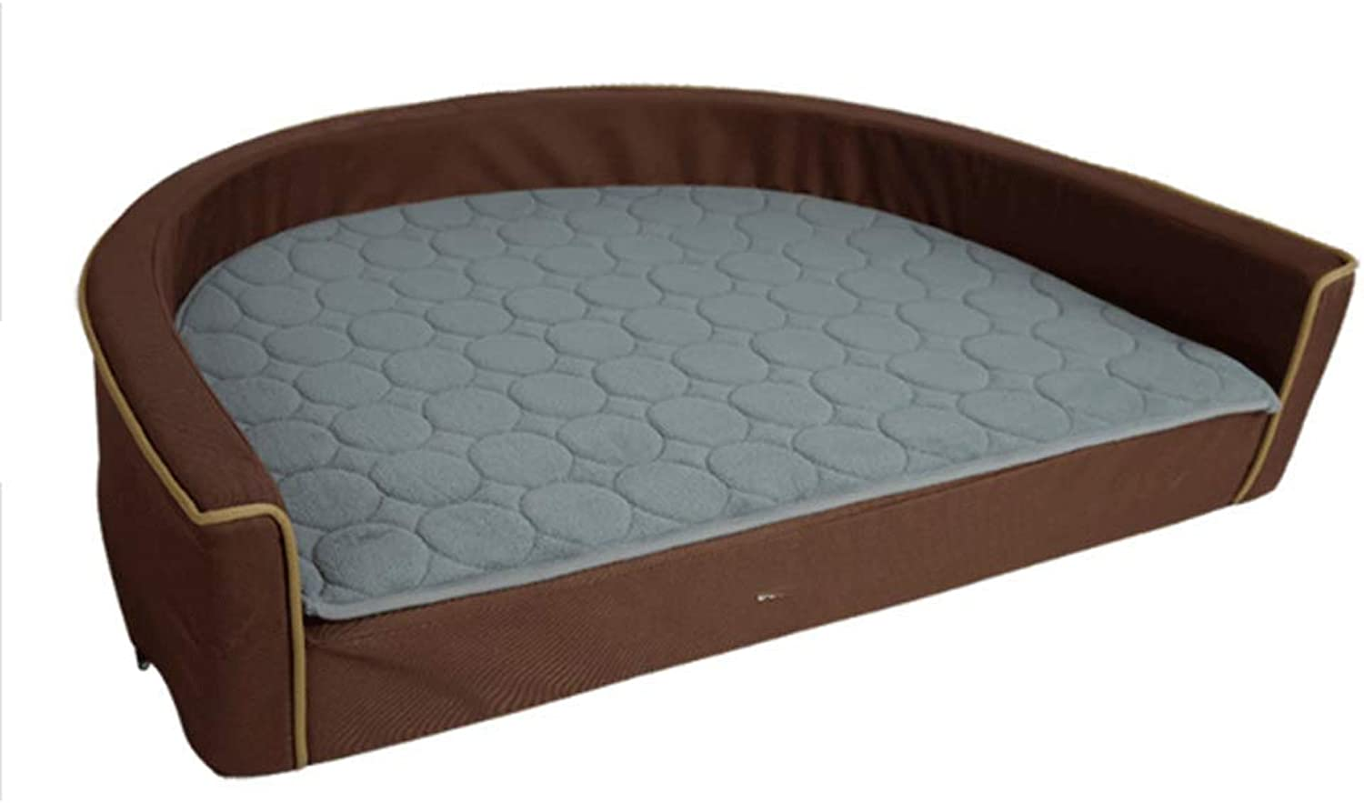 AIDELAI Kennel Removable And Washable Dog Bed Teddy golden Retriever Pet Nest Sofa Mattress Dog Supplies (color   BROWN, Size   60×44×12cm)