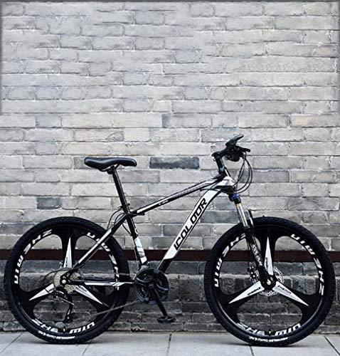 AISHFP 26 Pulgadas de Bicicletas de montaña, Doble Freno de Disco Trek Bicicletas, Marco de...