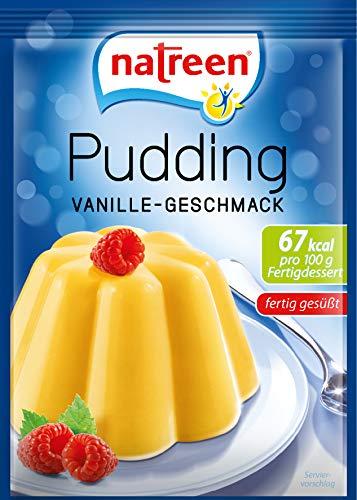 Natreen Pudding Vanille mit nur 67 kcal pro 100g Dessert, 3 x 35 g Beutel