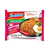 INCLUDES: 30 individually wrapped packets of Hot & Spicy Indomie Mi Goreng noodles CALORIES: 390 Calories per serving. Each serving is (1) individual packet ALLERGEN CALLOUTS: Preservatives, Sesame, Sesame Oil, Soy, Soybean, Wheat HALAL: 100% Halal c...