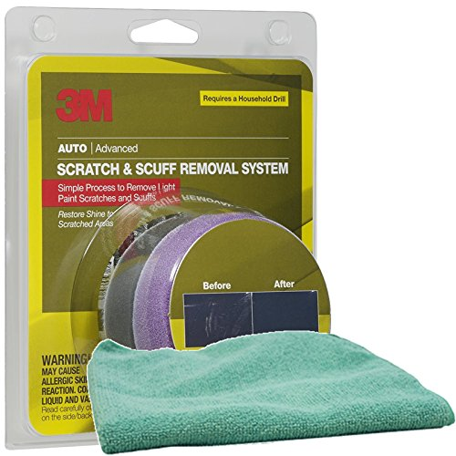 3M Scratch Remover System Bundle with Microfiber Cloth (2 Items)