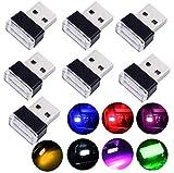 WENTS 7PCS Mini Voiture sans Fil USB éclairage intérieur de Voiture lumières atmosphère USB lumière Universelle LED Éclairage LED USB pour voiture, ordinateurs et batteries externes Multicolore