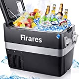 Firares 12 Volt RV Refrigerator Electric Compressor Car Freezer 42 Quart(40L) Portable Fridge Cooler (-4℉~50℉) for Truck Driving, Boating, Camping, Road Travel and Home-12/24V DC and 110V AC