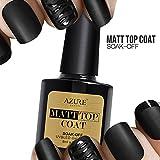 Azure Beauty UV LED Nagellack Gel Matt Top Coat Überlack Gel Gellack 8ml