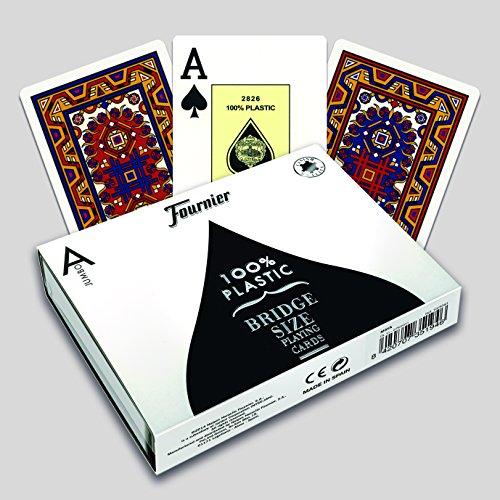 Fournier 1028943 Pokerkaarten van dubbele kunststof Maya (2 Jumbo Index)