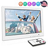 Inwall Video Monitor Display Screen - 15.4 Inch Full HD 1080p Universal Widescreen LCD Flush Wall Mount HDMI RCA Monitor w/VGA, RCA Audio, Wireless Remote, Frame Cover, Home/Car Use - Pyle PLVW155U