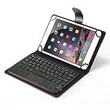 J&H Alcatel Pixi 4 (7) Funda de teclado, universal de 7 pulgadas a 7.9 pulgadas, funda de teclado de piel sintética con teclado Bluetooth (modo TOUCHPAD) para Alcatel Pixi 4 (7) de 7 pulgadas
