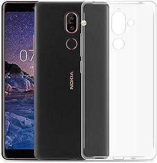 YZKJ Fodral till Nokia 7 Plus (6,0 tum) skydd, mjuk mobilväska transparent TPU mobilfodral silikon väska skal fodral skydd...