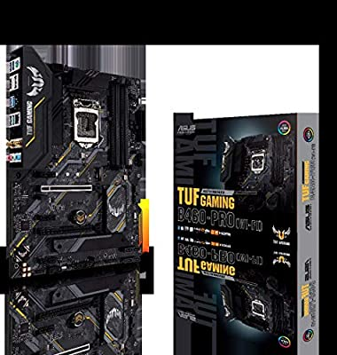 ASUS TUF Gaming B460-PRO WiFi 6 LGA1200 (Intel 10th Gen) ATX Gaming Motherboard (WiFi 6, Intel 1Gb LAN, Addressable Gen 2 RGB Header, Aura Sync)