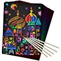 50-Piece ZMLM Scratch Paper Art Set
