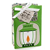 Happy Camper - Camping Baby Shower or Birthday Party Favor Boxes - Set of 12