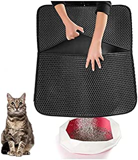 Original Cat Litter Mat Anti-Tracking Trapping Large Jumbo Size Honeycomb Double Layer Waterproof Urine Proof for Hooded/F...