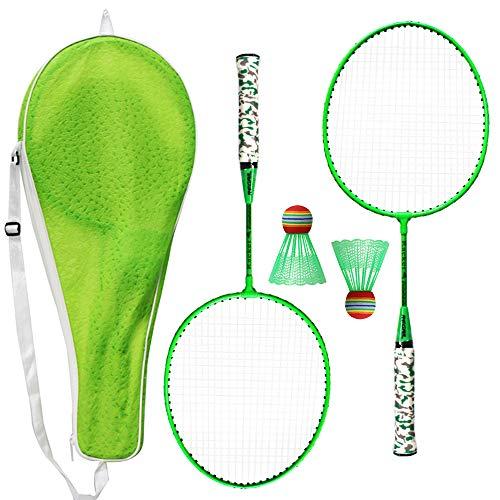 Lixada 1 Paire de Raquettes de Badminton avec Balles Set de Badminton 2 Joueurs Ensemble d'Entraînement de Badminton pour Les Enfants Jeu de Sports de Plein Air en Plein Air Entraînement au Badminton