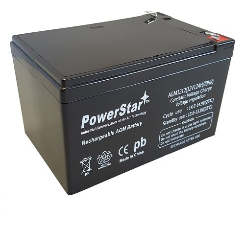 PowerStar 12V 12AH F2 Kid TRAX Rechargeable Replacement Battery