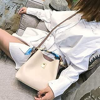 WTYD Single Shoulder Bag Fashion PU Leather Large Capacity Handbag Ladies Shoulder Messenger Bag(White) (Color : White)