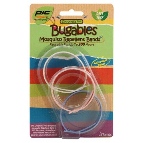 Bugables Mosquito Bug Repellent Bracelet Bands 3 Count