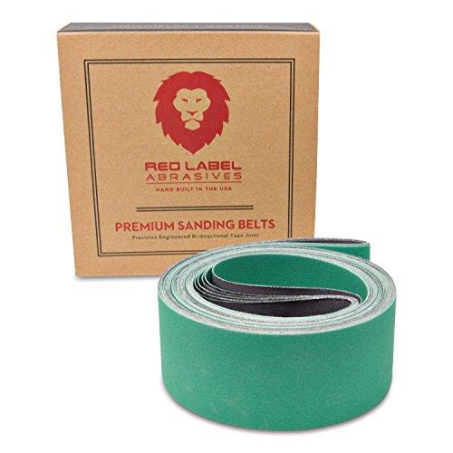2 X 72 Inch 220 Grit Metal Grinding Ceramic Sanding Belts, Extra Long Life, 6 Pack