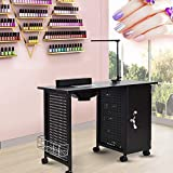 Manicure Nail Table,WaterJoy Nail Station Table Manicure Steel Frame Table Salon Spa Table...