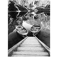 BGGGTD ポスター 北欧の自然風景写真壁アート家の装飾キャンバスアート絵画現代の風景ポスターと寮の装飾のためのプリント-50x70cmx1フレームなし