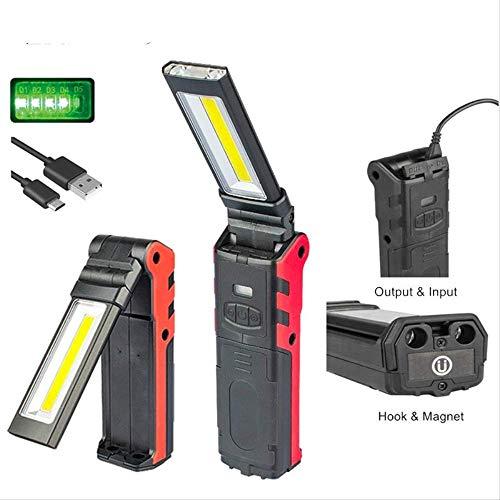 Magnétique DEL rechargeable Lampe torche d/'urgence Work-Light COB Lampe Hi Vis