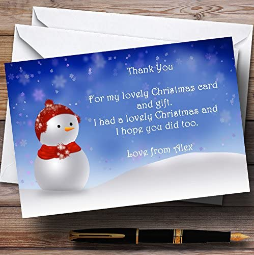 Snowmen Personalised Christmas Party Invitations
