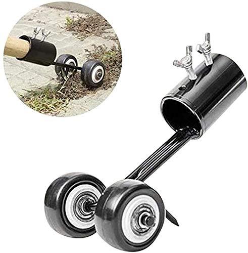 HSQA - Herramienta para cortar hierbas, herramienta para cortar hierbas, cortadora de hierbas, cortadora de hierbas, cortadora de hierba, con ruedas para acera y calzada