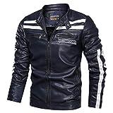 style_dress Veste Simili Cuir Homme, T Shirt, Habits Musculation Homme, Automne Hiver Vintage Imitation Leather Coat