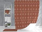 Lplpol Cortina de ducha tribal étnica con diseño africano,...