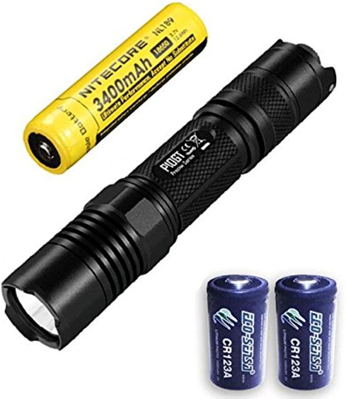 Combo  Nitecore P10GT Flashlight  CREE XPL HI V3 LED 900 Lumens w NL189 3400mAh Battery