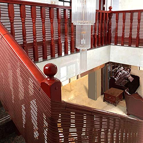 Balcón Extraíbley Red De Seguridad De La Escalera, Red De Seguridad Para Protección Infantil Malla De Seguridad Ajustable Para Balcones De Escaleras O Patios Bla(Color:marrón,Size:3*0.9M(9.8*2.95FT))