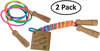 Daju Jump Ropes - Set of 2 - Girls Jumping & Skipping Rope Toy - Rainbow Colored, 7ft Long