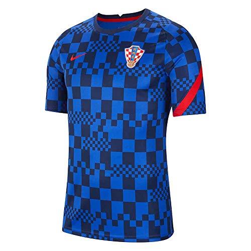NIKE 2020-2021 Croazia - Maglietta da calcio pre-partita, colore: Blu,...