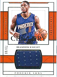 2016 National Treasures Authentic Brandon Knight Game Worn Jersey Card