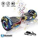Hoverboard elettrico APP scooter a 8 pollici con Bluetooth & LED Auto Balance E-Skateboard